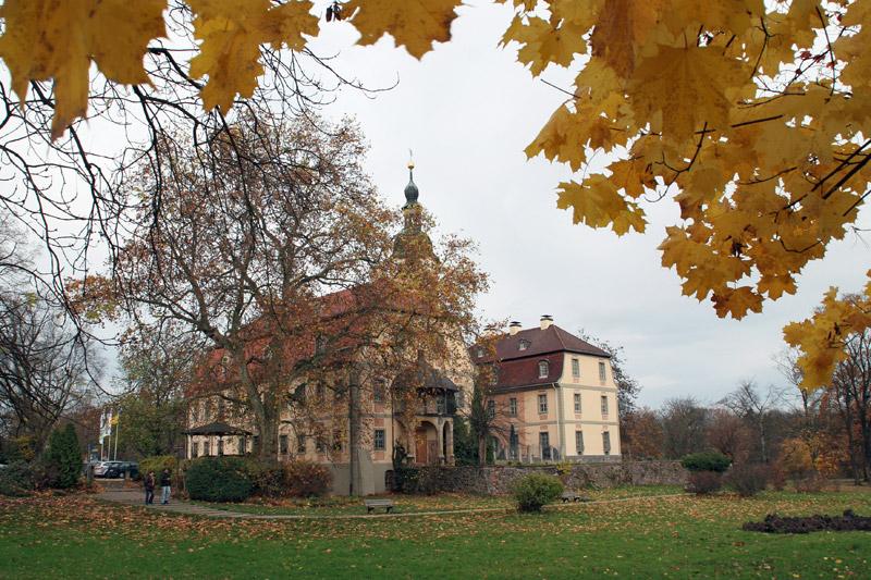 Das herbstliche Schloss Machern