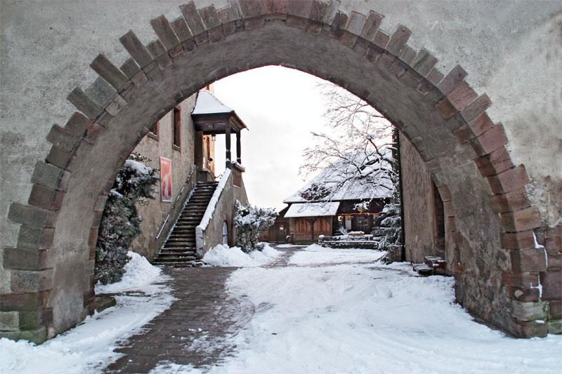 Schnee auf der Leuchtenburg
