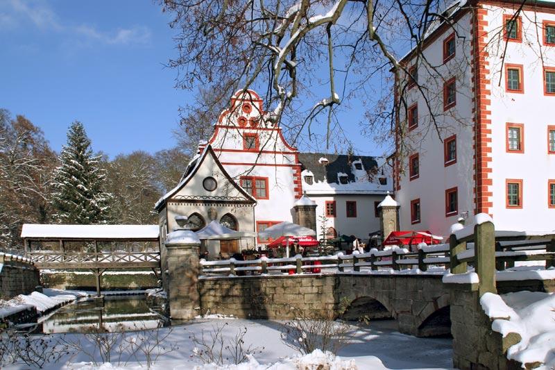 Schloss Kochberg im Winter