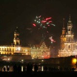 Silvesterfeuerwerk am Schloss Dresden